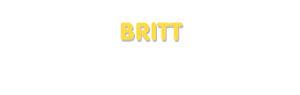 Der Vorname Britt