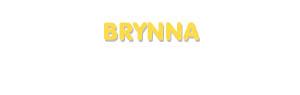 Der Vorname Brynna
