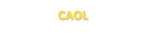 Der Vorname Caol