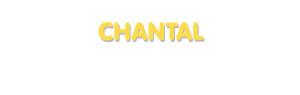 Der Vorname Chantal