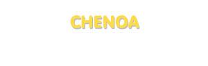 Der Vorname Chenoa