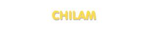 Der Vorname Chilam