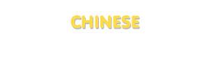 Der Vorname Chinese