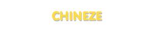 Der Vorname Chineze