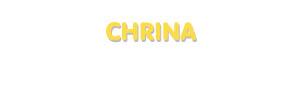 Der Vorname Chrina