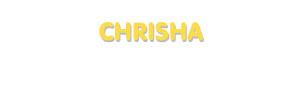 Der Vorname Chrisha