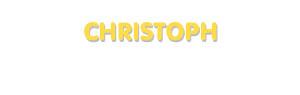 Der Vorname Christoph
