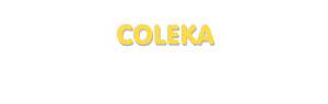 Der Vorname Coleka