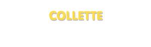 Der Vorname Collette