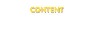 Der Vorname Content