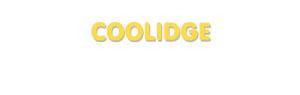 Der Vorname Coolidge