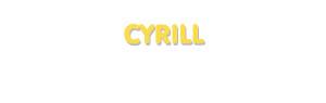 Der Vorname Cyrill