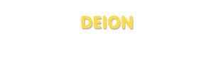 Der Vorname Deion