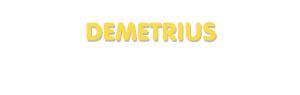Der Vorname Demetrius