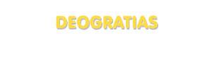 Der Vorname Deogratias