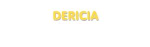 Der Vorname Dericia