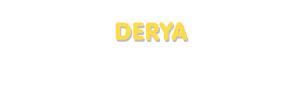 Der Vorname Derya
