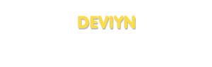 Der Vorname DevIyn