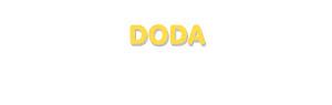Der Vorname Doda