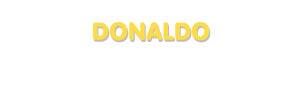 Der Vorname Donaldo