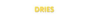 Der Vorname Dries