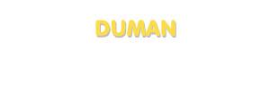Der Vorname Duman