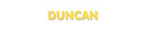 Der Vorname Duncan