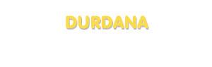 Der Vorname Durdana