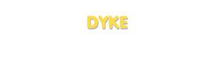Der Vorname Dyke