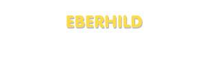 Der Vorname Eberhild