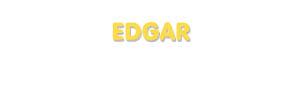 Der Vorname Edgar