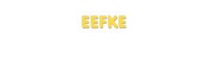 Der Vorname Eefke