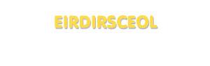 Der Vorname Eirdirsceol