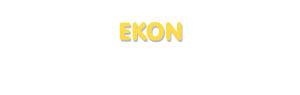 Der Vorname Ekon