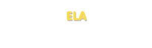 Der Vorname Ela