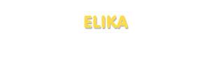 Der Vorname Elika