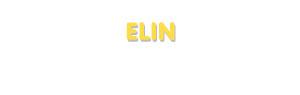 Der Vorname Elin