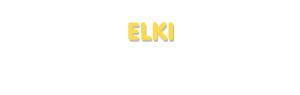 Der Vorname Elki