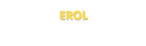 Der Vorname Erol