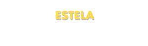 Der Vorname Estela