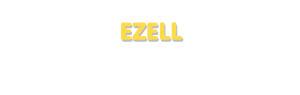 Der Vorname Ezell