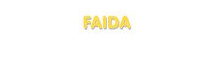 Der Vorname Faida