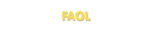 Der Vorname Faol