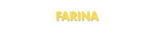 Der Vorname Farina