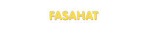 Der Vorname Fasahat