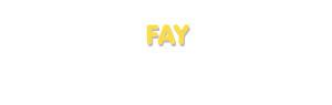 Der Vorname Fay