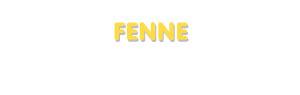 Der Vorname Fenne