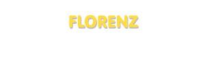 Der Vorname Florenz