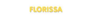 Der Vorname Florissa