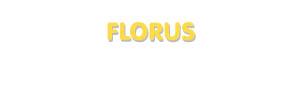 Der Vorname Florus